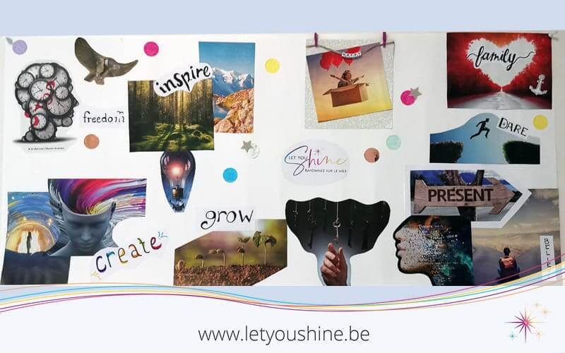 Vision Board de Let You Shine - Comment créer mon Vision Board en 6 étapes