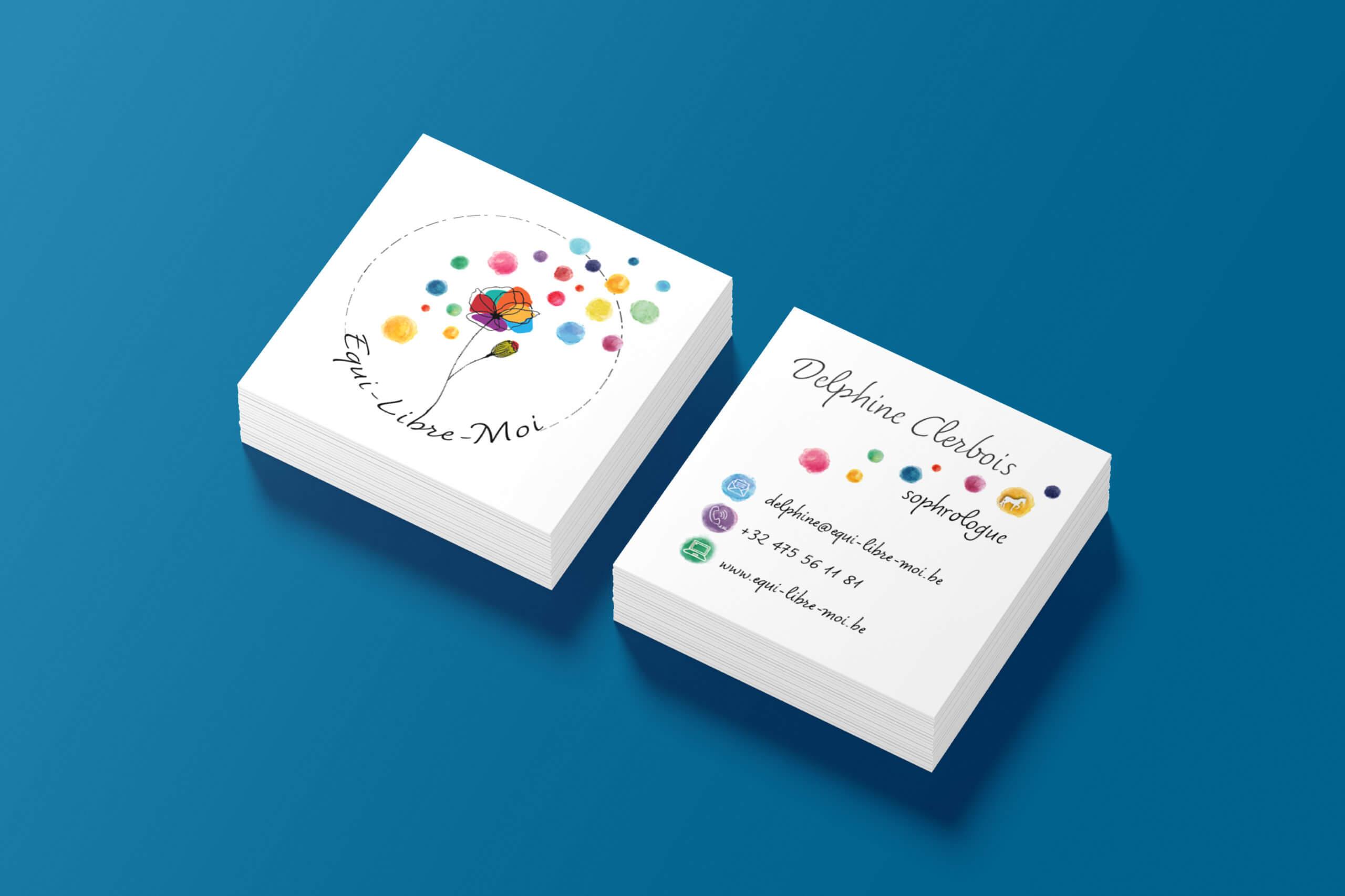 carte de visite Equi-Libre-Moi - Let You Shine Graphiste et créatrice d'identité visuelle