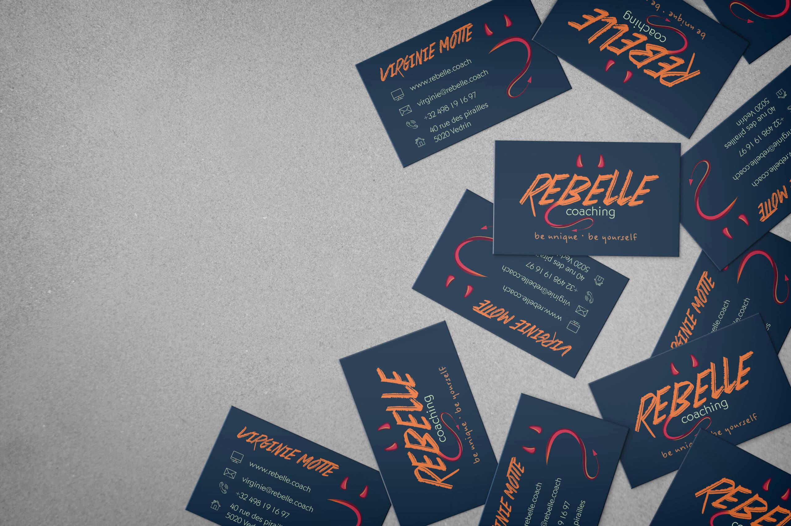 Création d'identité visuelle pour Rebelle Coaching par Let You Shine créatrice web