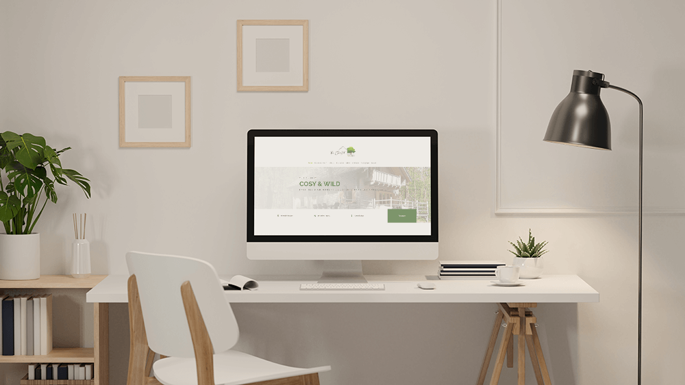 Création de site internet pour The Chalet Cosy and Wild - Web Design par Let You Shine