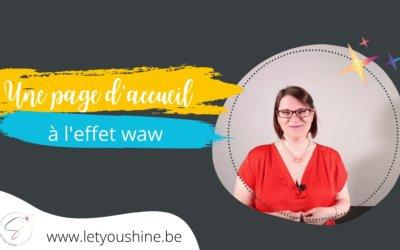 Comment avoir une page d'accueil de site web à l'effet WaW ?