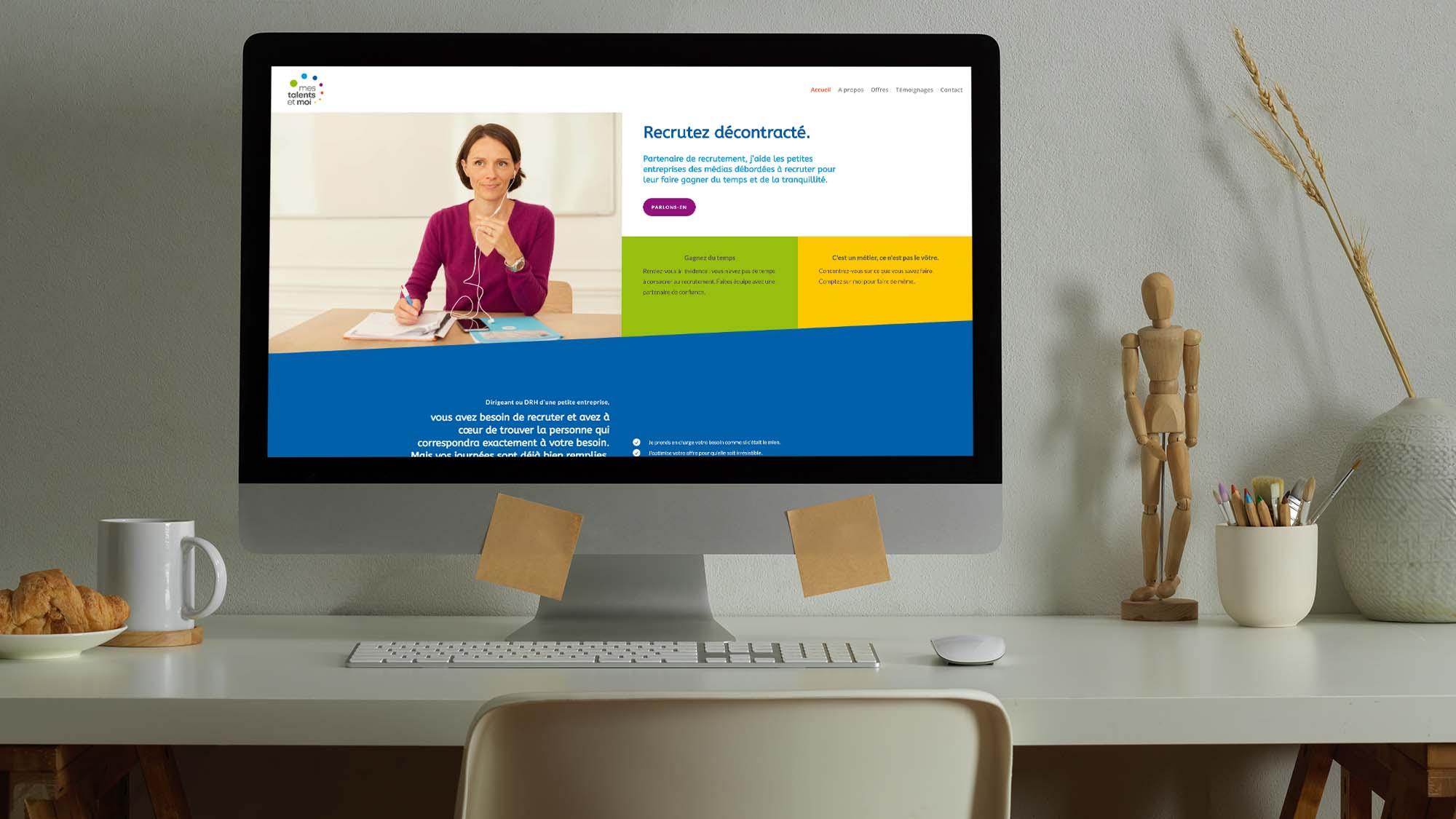 Mes talents et moi - Cécile Lamouret - création de site web par Virginie Gruber webdesigner cher Let You Shine